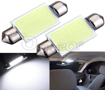 Lowest Price 39MM 12 LED Chips COB Car Auto Interior Dome Festoon Reading Map Door Lights Lamp Bulb DC12V White