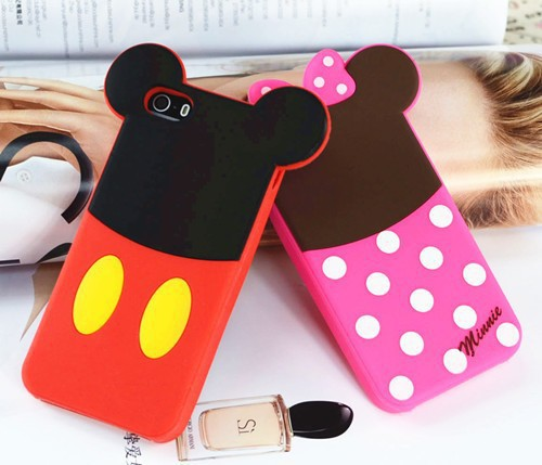 2015 New 3D cute cartoon Mike Verney Pooh Alien Minnie and Sulley model soft silicone material Cover case for iphone 4 4S 5 5S(China (Mainland))