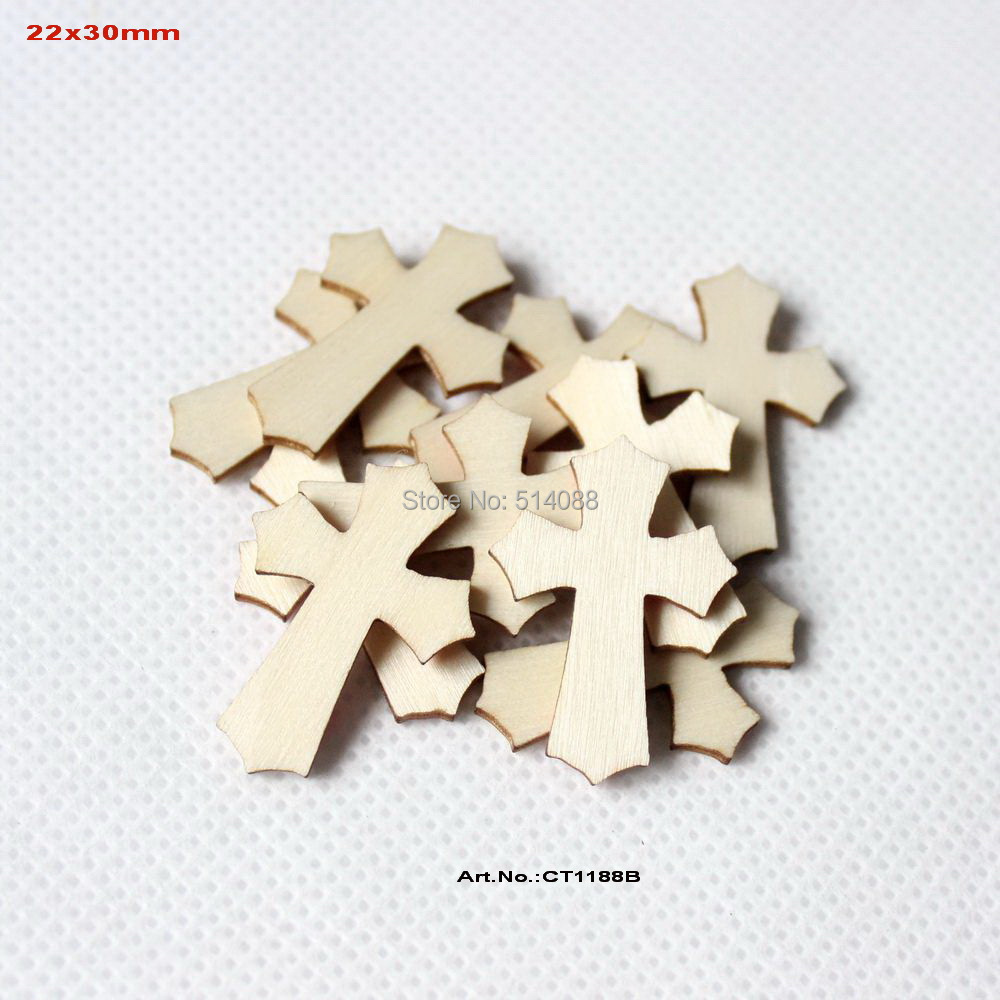 150pcs lot easter scrapbooking natural wooden cross for Wooden craft supplies wholesale