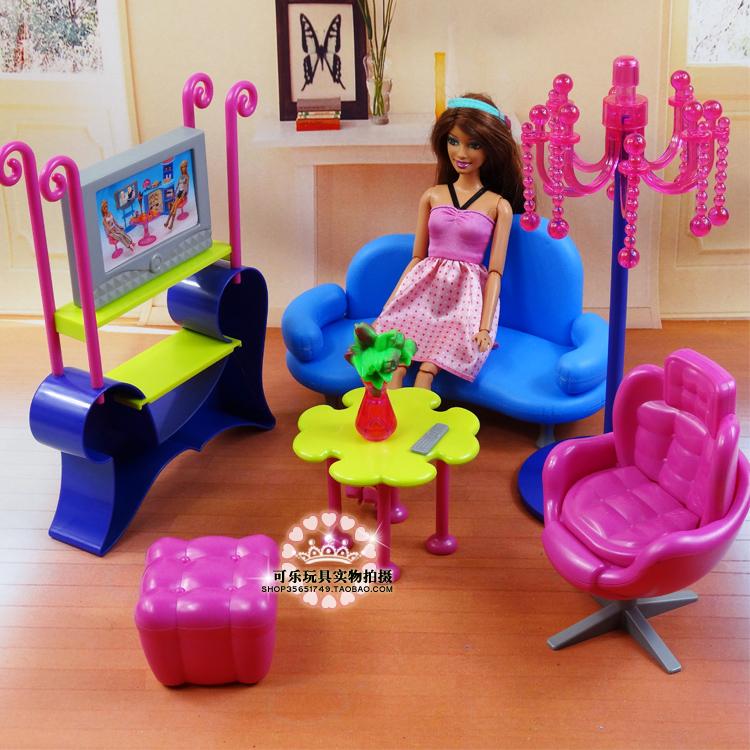 Barbie muebles sala de estar   compra lotes baratos de barbie ...
