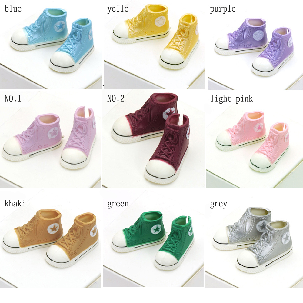 1pair 3.5cm Fashion Plastic Doll Shoes for Blythe BJD Dolls, Ball Joints Doll Accessory Shoes(China (Mainland))