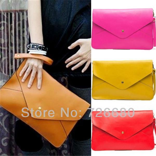 Free shipping! Fashion Lady Women Envelope Clutch Chain Purse HandBag Shoulder Hand Tote Bag 128-0002(China (Mainland))