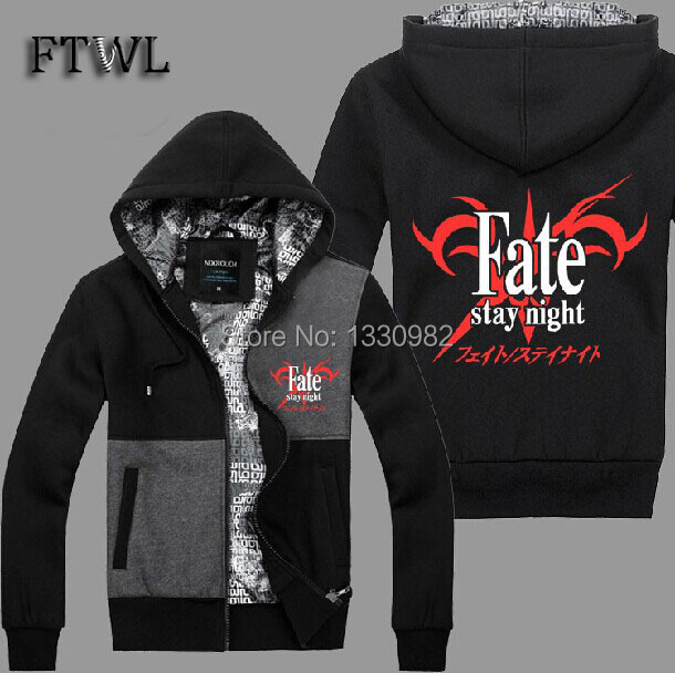 Fate stay night cosplay hoodies sudaderas hombre zipper tracksuits men jackets and coats autume and winter sweatshirt clothesОдежда и ак�е��уары<br><br><br>Aliexpress