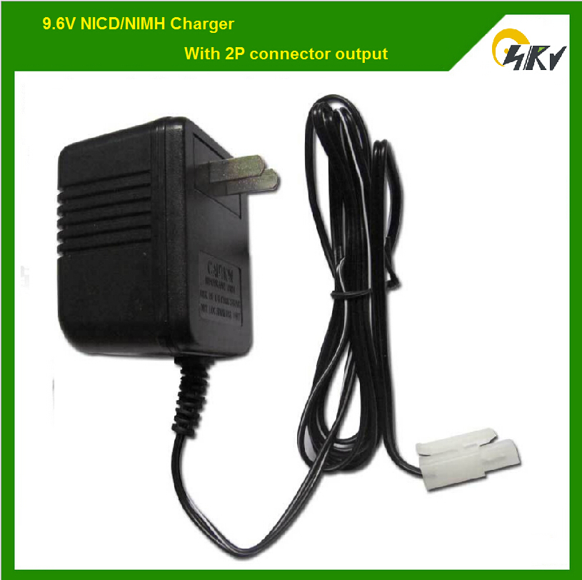 9.6V NIMH / NICD RC battery charger with 2P connector output for HQ 781 782 514 528 remote control tank(China (Mainland))