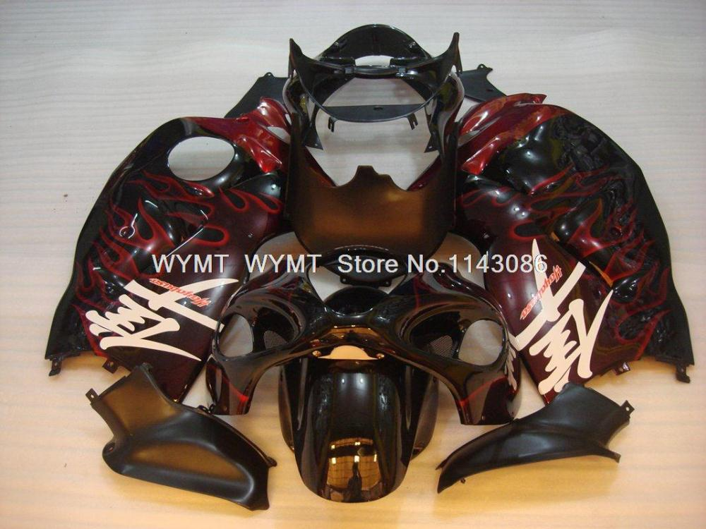 Body Kits GSX R1300 01 02 Red Flame Plastic Fairings for Suzuki GSXR1300 HAYABUSA 97 - 07 INJECTION Details(China (Mainland))