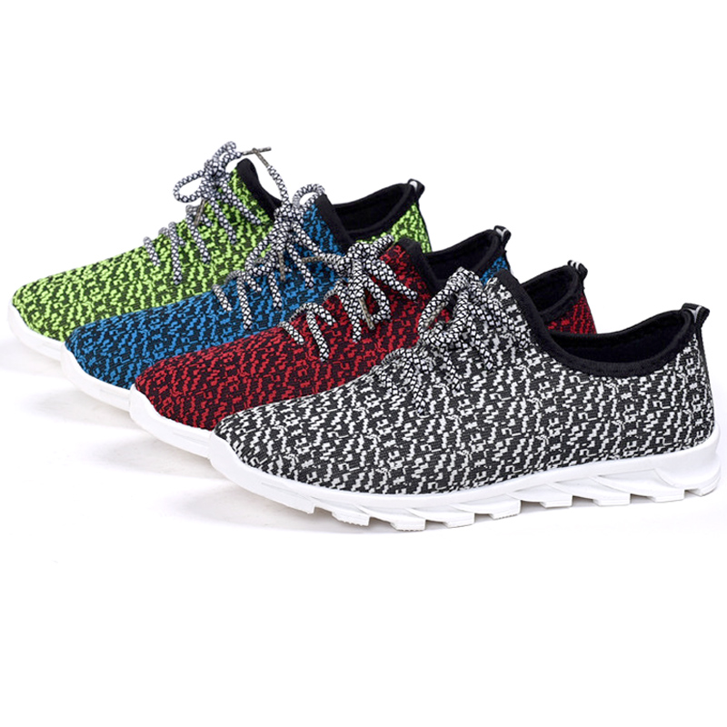 Breathable mesh 2016 men walking shoes free flexible cushioning sneakers confortable hard court sport shoe free shipping(China (Mainland))