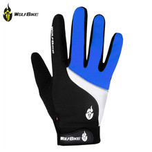 WOLFBIKE Winter Cycling Gloves Outdoor Sports Bicycle Gloves Mittens Road Mountain Bike Windproof Antiskid Full Finger Gloves