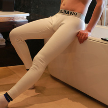 Buy Men's winter Warm thick Thermal underwear New fashion Men Long Johns Leggings tights sexy waistband design WJ brand for $13.29 in AliExpress store