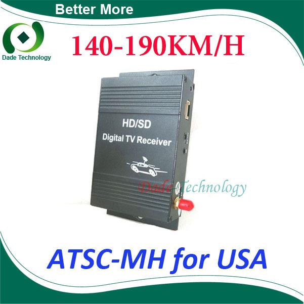 Car ATSC-M/H digital tv receiver tuner box 4 Video Output for United States USA(China (Mainland))