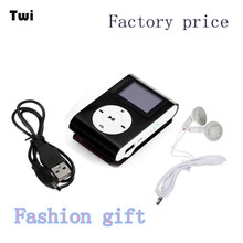 Factory Price LCD Screen Mini Clip Mp3 Player Electronic Products Sports Metal MP3 Music Player Support 32GB Micro SD TF Card (China (Mainland))