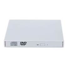 External DVD ROM CD RW Drive Burner Combo USB 2.0 CD/DVD Player Reader Write Portatil for Laptop Computer pc, Windows7/8 White(China (Mainland))