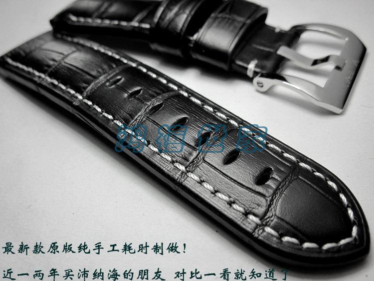 Handmade Leather Strap Watchbands, 24MM*22MM Calf Leather Watchband, Mens Watchbands Hot Free Shipping!<br><br>Aliexpress