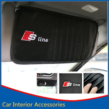 Car Styling DVD CD Holder Organizer Storage Case Sun Visor Sline AUDI A1 A3 A4 A5 A6 A7 A8 Q3 Q5 Q7 TT R8 RS 8 Slots - KAHANE Accessories Franchise Store store