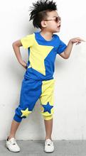 2015 NEW children clothing set stars boys set baby sets short t shirt pants 2 pcs