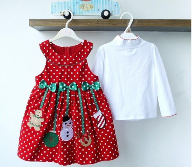 2PCS/2-6Years/Christmas Kids Dresses For Baby Girls Clothes Cartoon Cute Santa Claus Dress+T-Shirt Children Clothing Sets BC1336  HTB1vDLsKpXXXXcoXXXXq6xXFXXXA
