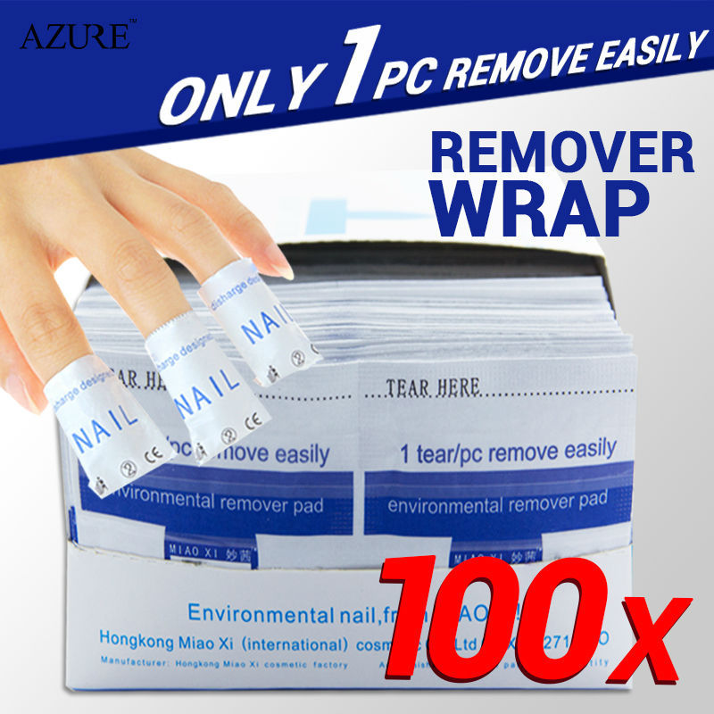 2015 nail remover 100Pcs/lot Nail Art gel polish Lacquer Easy cleaner gel nail Wraps UV Gel Remover Nails Care tools(China (Mainland))