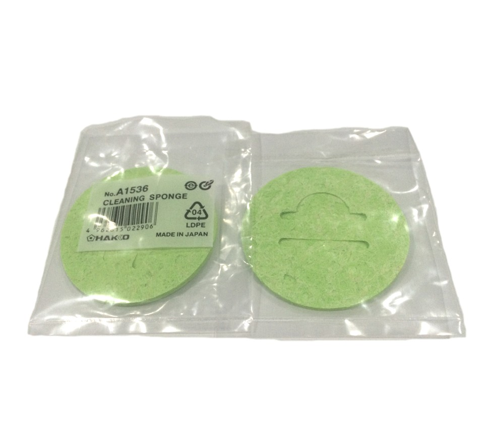 50pcs hakko a1536 solder tip cleaning sponge green for use with hakko fh200. Black Bedroom Furniture Sets. Home Design Ideas
