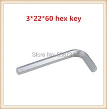 Níquel acero al carbono 3mm * 60 L llave ( 100 unids/lote )