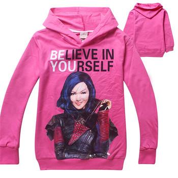 2016 Spring Autumn Kids Girls Boys Baby Child Toddler Believe in Yourself The Descendants Clothes Sweatshirts Hoodies