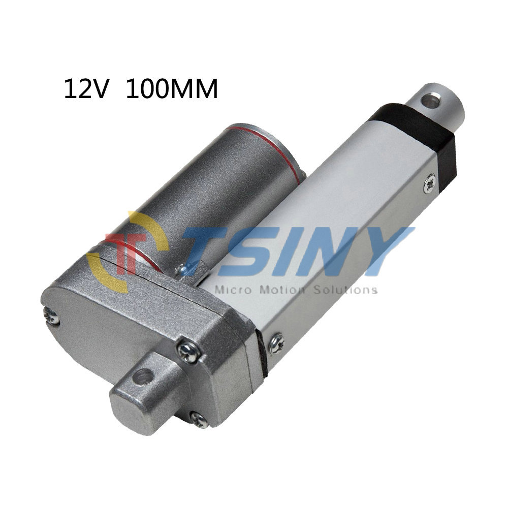 Stroke 100mm=4''/ DC 12V/750N=75KG Small Linear actuator,Electric actuator,actuator motor for recliner chair(China (Mainland))