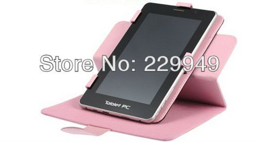 7inch Rotatable Leather Case Protective Case for Tablet PC