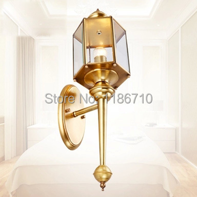 Wall Sconces High End : European high end copper wall lamp Exports Europe and the United States Indoor hotel apartment ...