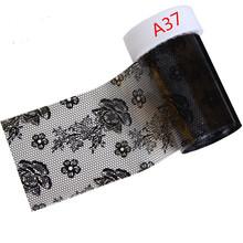 21 estilos Sexy de renda preta transferência Nail Art Foils etiqueta Nails decalques Beauty Foil polonês envolve dicas de decoração para Nail Art