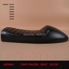 Free Shipping Factory Outlet Cafe Racer motorcycle  seat  Parts  CG125 CB 250 350 550 650 Black  SEAT GN125 GN250 GN400  GS(China (Mainland))