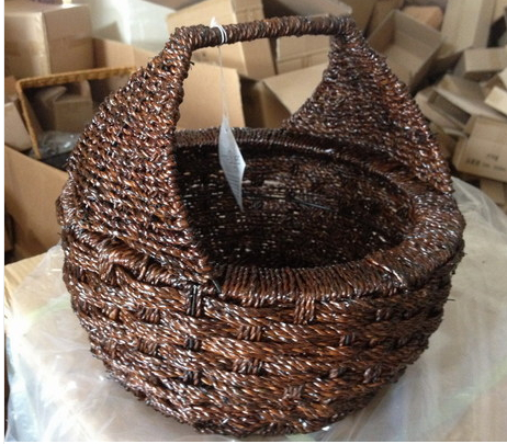 American style fruit basket rattan straw braid basket rustic brief home fruit and vegetable basket storage basket(China (Mainland))