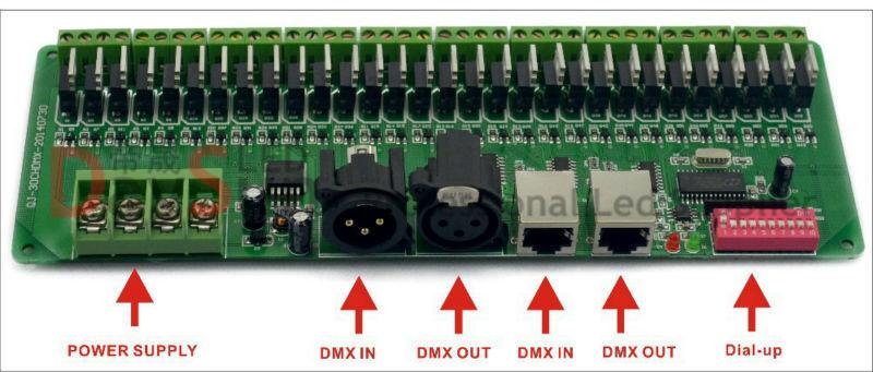 New Hot Sale Easy DMX 30CH LED RGB Controller, DMX Decorder & Led DMX Driver Popular in Australia USA Russia etc(China (Mainland))