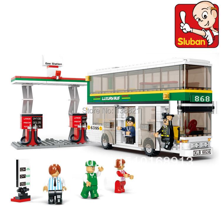 DIY Educational Toys children Building Blocks Double decker bus self-locking bricks Compatible Lego - zhichao shaw's store
