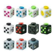 Buy 11 Patterns Squeeze Fun Fidget Cube Toy 3.3*3.3cm Dice Anxiety Attention Anti stress Puzzle Magic Relief Adults Funny Fidget Toy for $2.47 in AliExpress store