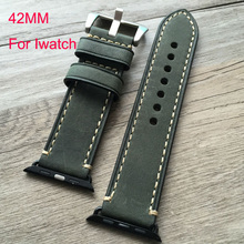 42mm leather watch strap,Watchband For iwatch apple watch smart watch with accessories connector
