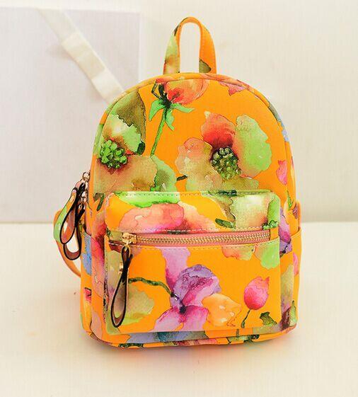 Этнические каракули цветы ударил цвет мини рюкзак, Мода опрятный весной новый пастырский печатные сумки, Дамы сумка