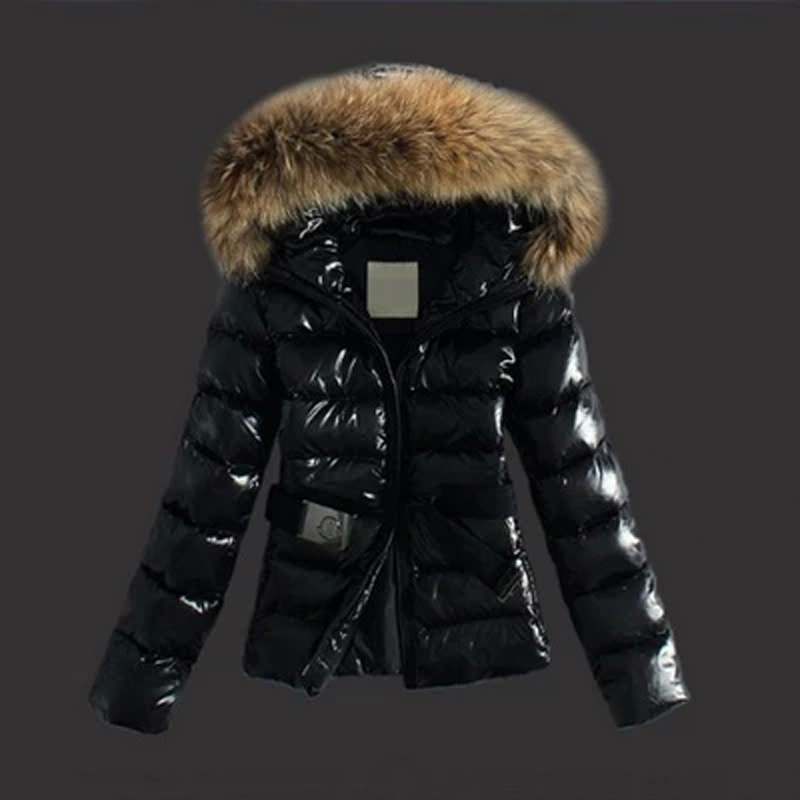 Moncler Classic Jackets Womens Hooded With Belt Black Price Melt Down