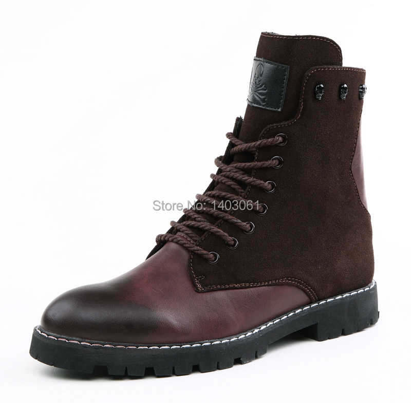 New Arrival England Style 2015 Military Boots Men Army Combat Boots Winter Men 39 S Brown Black