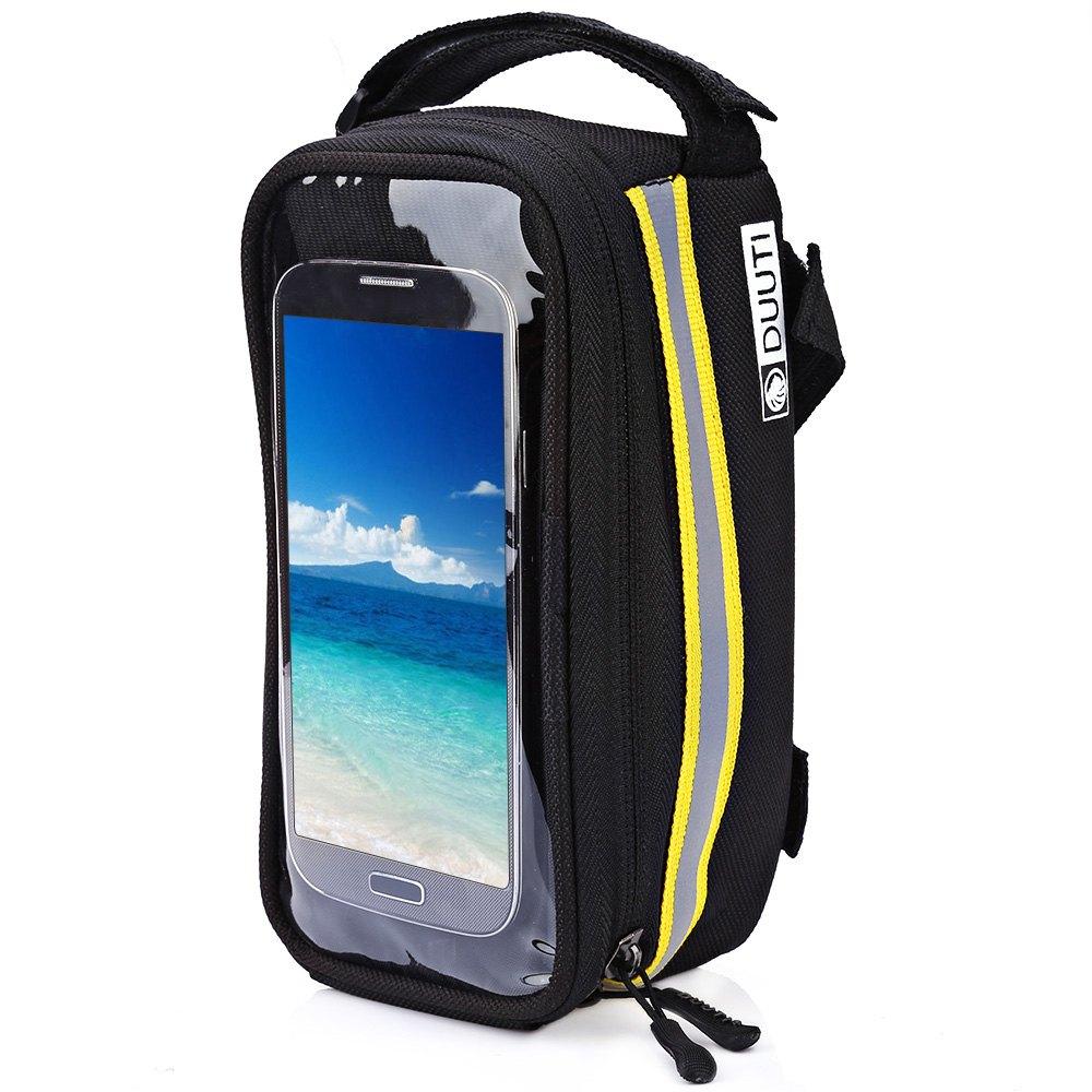 DUUTI Outdoor Cycling Mountain Bike Bicycle Bag Frame Tube Panniers Waterproof Touchscreen Phone Case Reflective Bag Basket(China (Mainland))