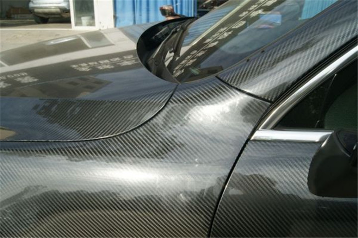 152X30cm DIY Car Sticker 5D High Glossy Film Change Color Auto Exterior Carbon Fiber Car Film Black/Silver For All Cars(China (Mainland))