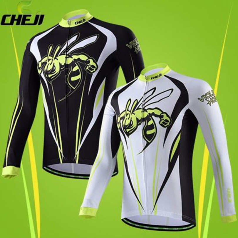 Winter Cycling Clothing Bee/ Bike / Cycle / Bicycle Long Sleeve Jersey Sets (Jersey And Cheji Pants) With Pad