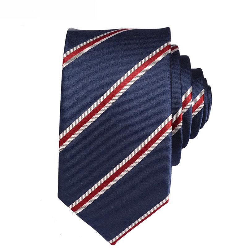 новые 100% мужчин шелковое связей полосатый тонкий галстук тощий Жаккардовые тканые классический мужчин галстук галстук высота качества одежда Аксессуары