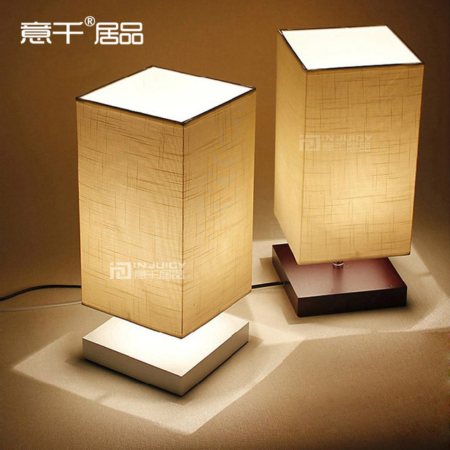Nordic Ikea Style Cloth Wood Desk Lamp Living Room Study Bedroom Dimming Reading Lamp