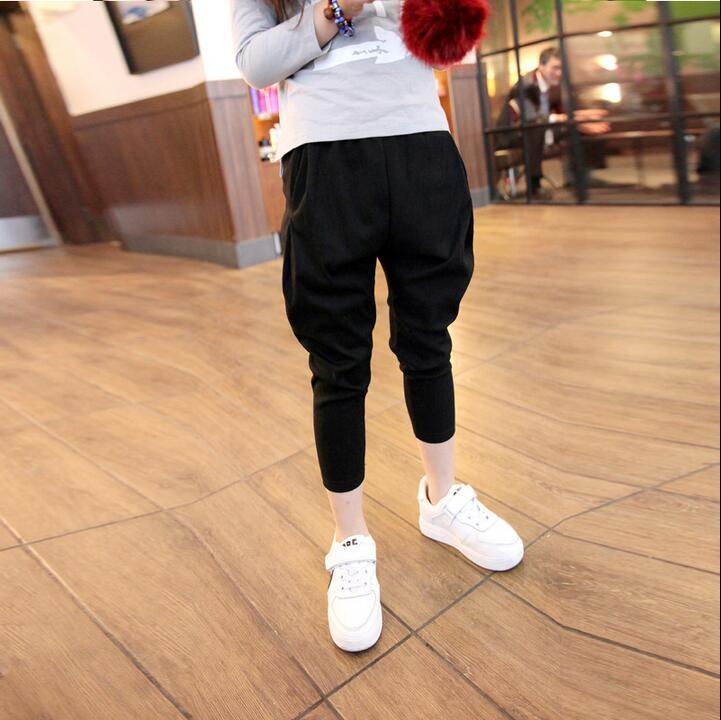 6-16T Girls Trousets Harem Pants Teenager Grils Fashion Pant Brand Kids Clothes for Summer Teens Wear Girls(China (Mainland))