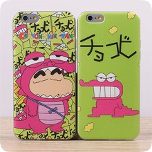 for iphone6 for apple 6plus phone shell protective shell soft shell 5s 5c cute cartoon Crayon South Korean Free Shipping
