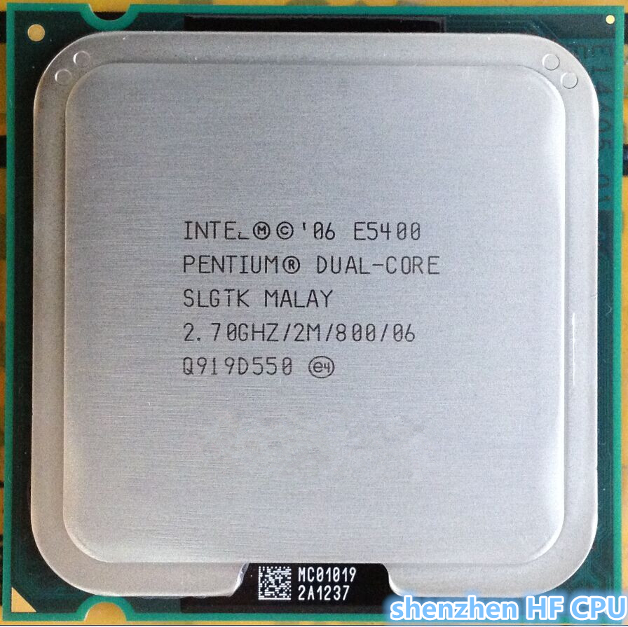 For lntel 5400 Desktop computer processor used cpu dual core 2 Duo Cpu 2.7GHz 2MB/800MHz LGA 775 (working 100% Free Shipping)(China (Mainland))