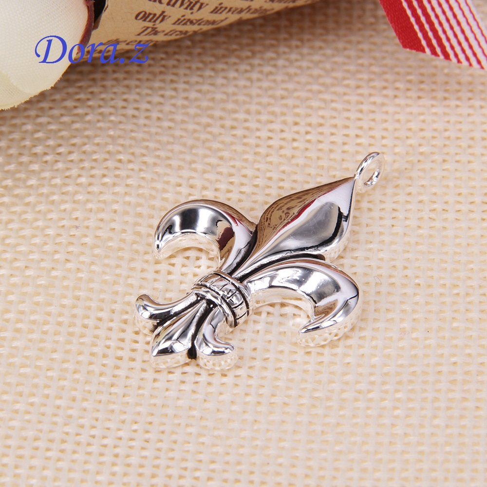 TS Fleur De Lis Royal Classic Necklace Pendant Thomas Style High Quality Silver Plated Trendy Jewelry Good Gift Bijoux For Women(China (Mainland))
