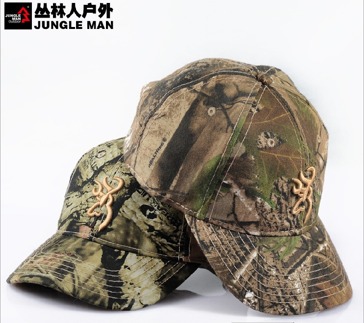 The bionic camouflage hunting hat Fishing cap baseball cap Pure cotton hat(China (Mainland))