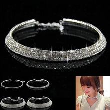 2015 fashion hot selling new women's star style shining crystal Collar rhinestone necklace wedding jewelry birthday Gift(China (Mainland))