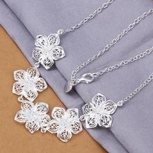 Женская ювелирные изделия стерлингового серебра 925 Redbud цветок подвески себе ожерелье n336 для рождественский подарок(China (Mainland))