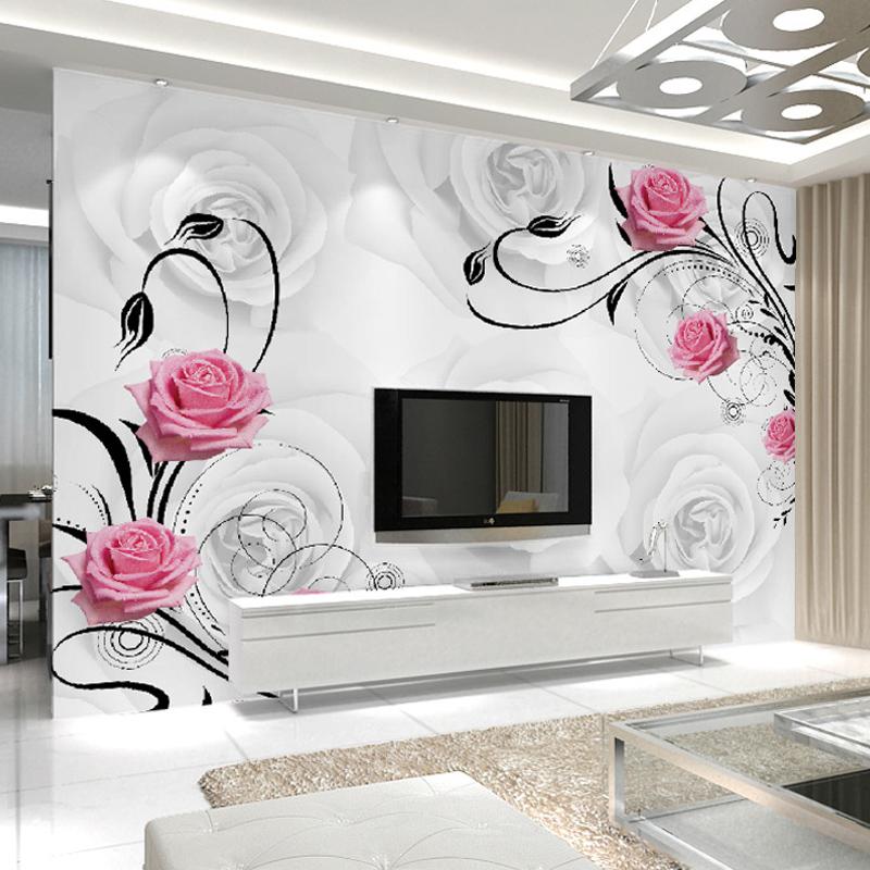 Popular flower wall murals buy cheap flower wall murals for Popular bedroom wallpaper