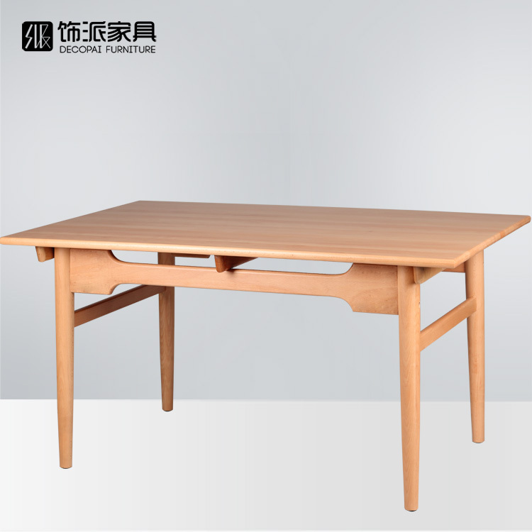 All Solid Wood Dining Table Decorated Send European Beech